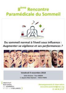 8e Rencontre Paramédicale du Sommeil INSV